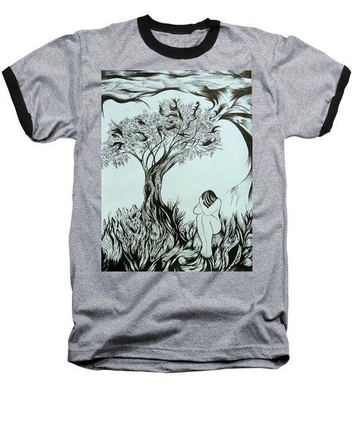 Sadness Baseball T-Shirt by Anna  Duyunova