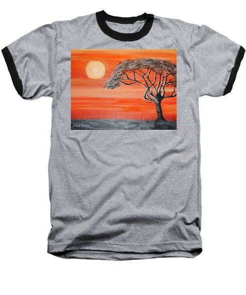 Safari Sunset 2 Baseball T-Shirt