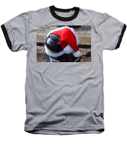 Safety First Santa Baseball T-Shirt
