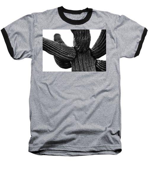 Saguaro Cactus Black And White 3 Baseball T-Shirt