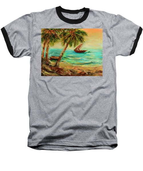 Sail Boats On Indian Ocean  Baseball T-Shirt