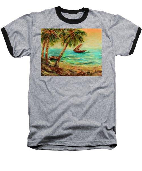 Sail Boats On Indian Ocean  Baseball T-Shirt