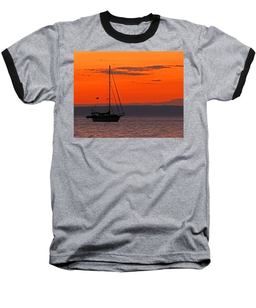 Sailboat At Sunset Baseball T-Shirt
