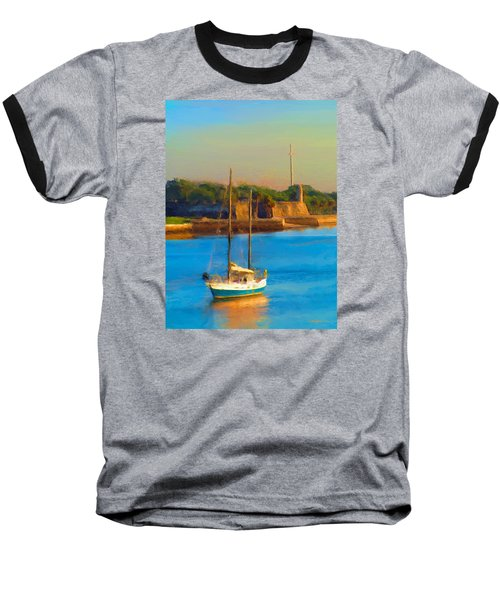 Da147 Sailboat By Daniel Adams Baseball T-Shirt