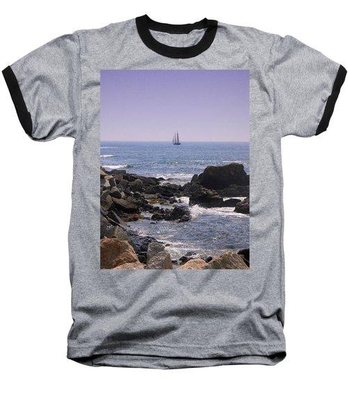 Sailboat - Maine Baseball T-Shirt by Photographic Arts And Design Studio