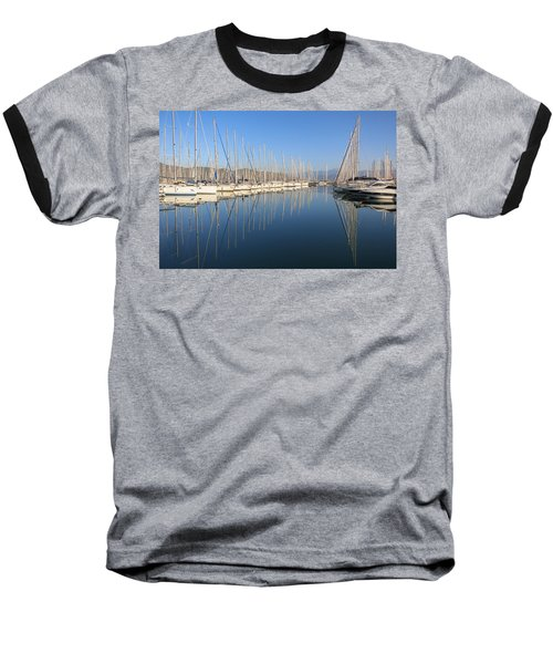 Sailboat Reflections Baseball T-Shirt