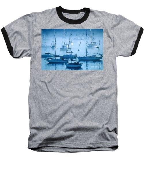 Sailboats In The Fog II Baseball T-Shirt