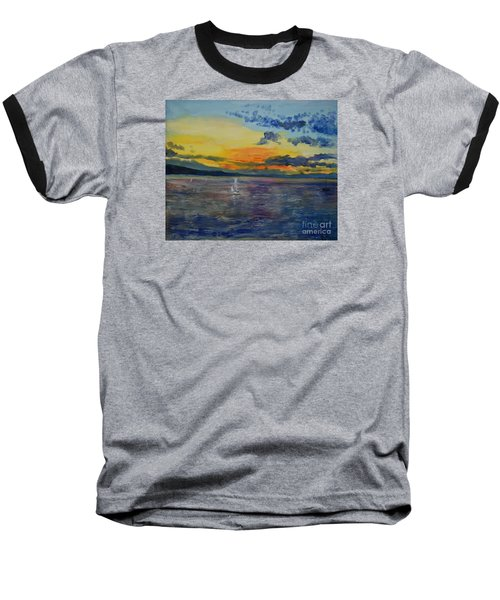 Sailboats Near Stockholm Baseball T-Shirt