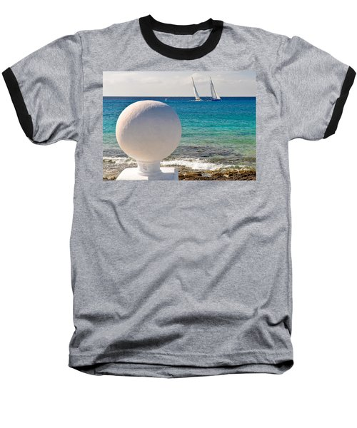 Sailboats Racing In Cozumel Baseball T-Shirt