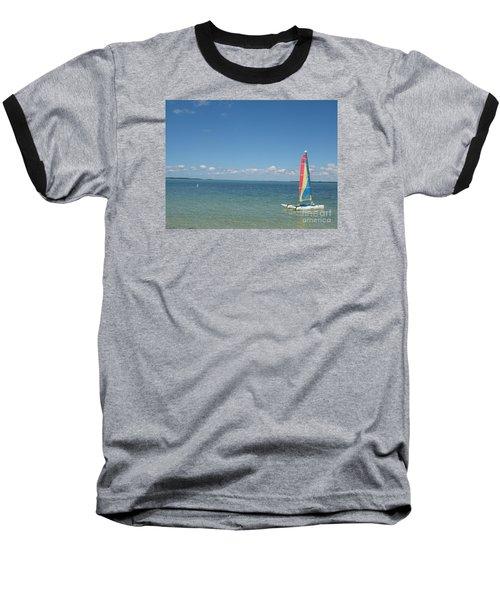 Sailing  At Key Largo Baseball T-Shirt by Christiane Schulze Art And Photography