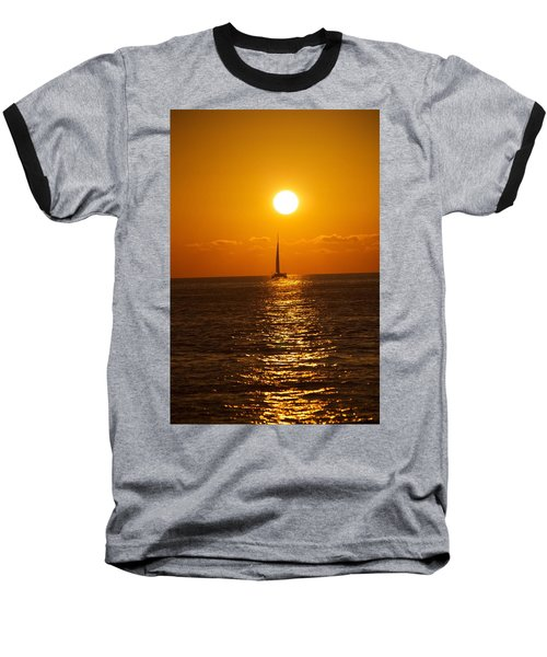 Sailing At Sunset Baseball T-Shirt