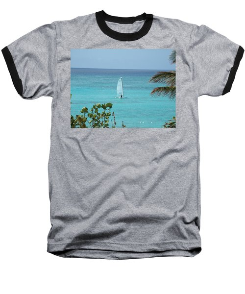 Baseball T-Shirt featuring the photograph Sailing by David S Reynolds