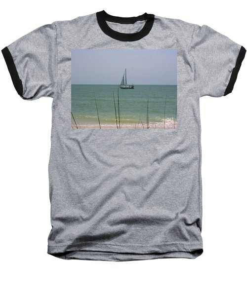 Baseball T-Shirt featuring the photograph Sailing In The Gulf by D Hackett
