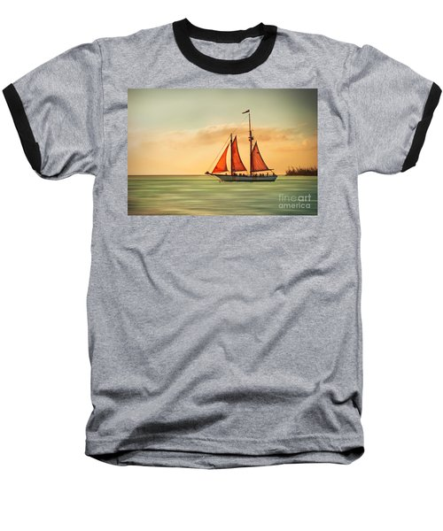 Sailing Into The Sun Baseball T-Shirt