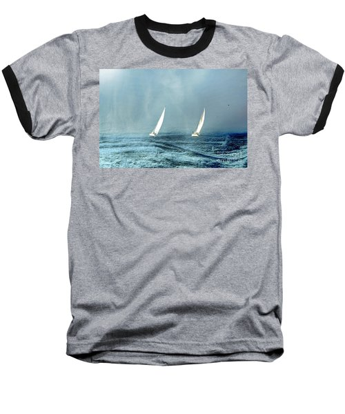 Sailing Into The Unknown Baseball T-Shirt