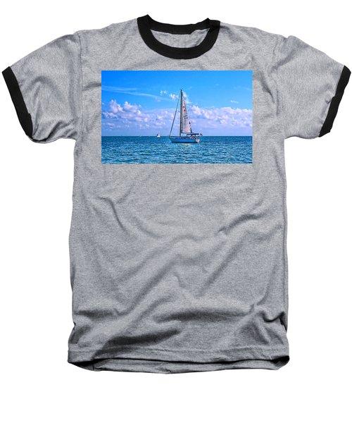 Sailing Off Of Key Largo Baseball T-Shirt