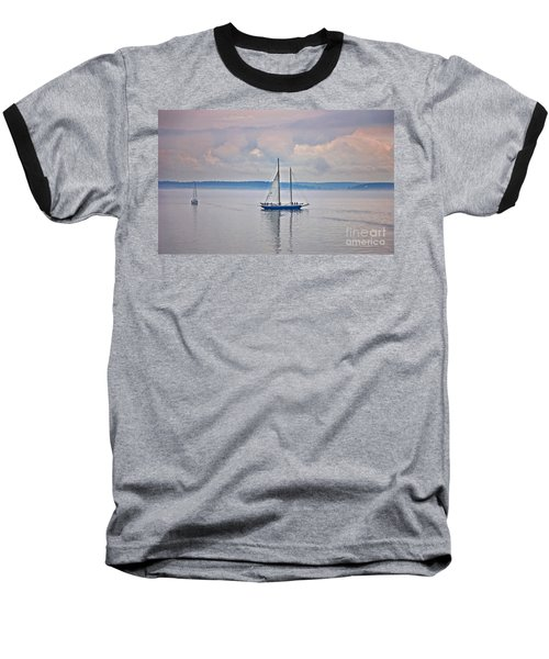 Baseball T-Shirt featuring the photograph Sailing On A Misty Morning Art Prints by Valerie Garner