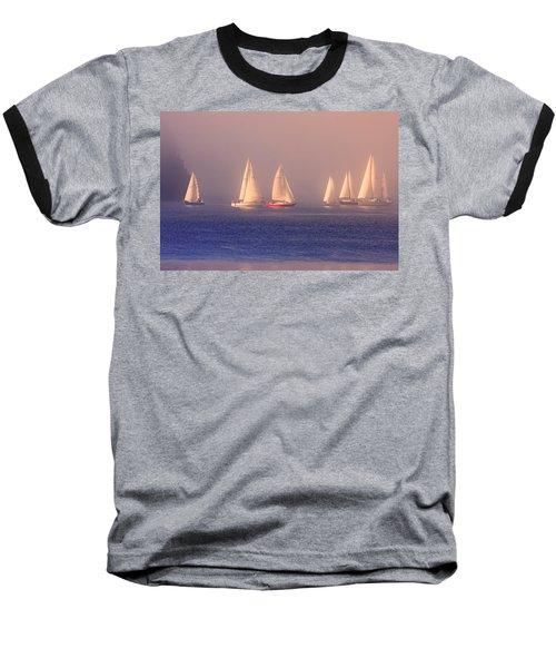 Sailing On A Misty Ocean Baseball T-Shirt