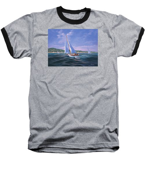 Sailing On Monterey Bay Baseball T-Shirt