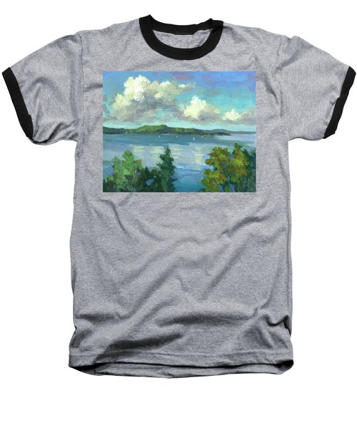 Sailing On Puget Sound Baseball T-Shirt by Diane McClary