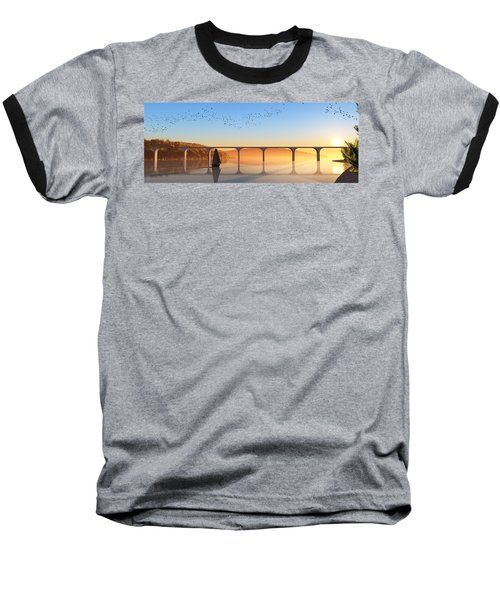 Sailing Out To Sea... Baseball T-Shirt by Tim Fillingim