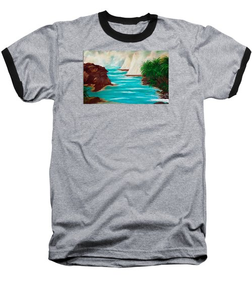 Sailing The Coast Of California Baseball T-Shirt