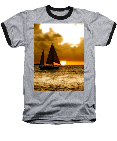 Baseball T-Shirt featuring the photograph Sailing The Keys by Iconic Images Art Gallery David Pucciarelli