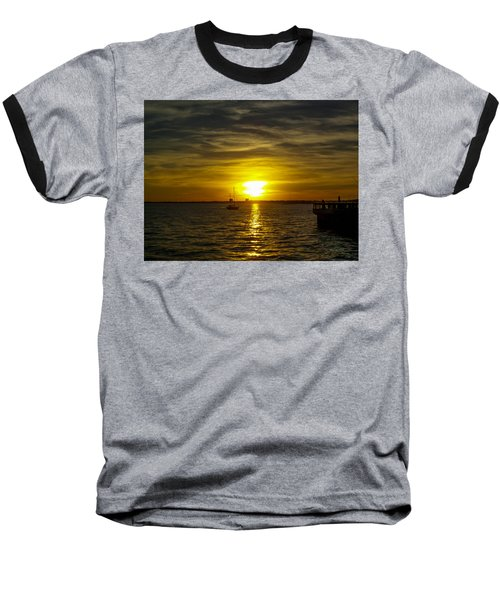 Sailing The Sunset Baseball T-Shirt