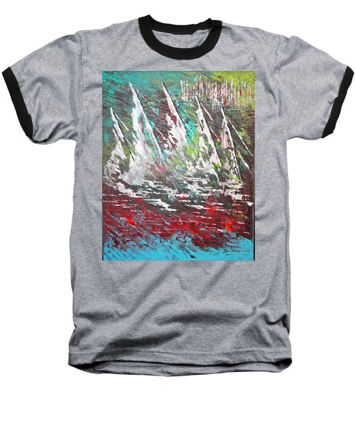 Sailing Together - Sold Baseball T-Shirt by George Riney