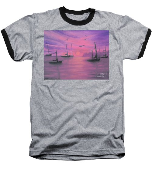 Sails At Dusk Baseball T-Shirt