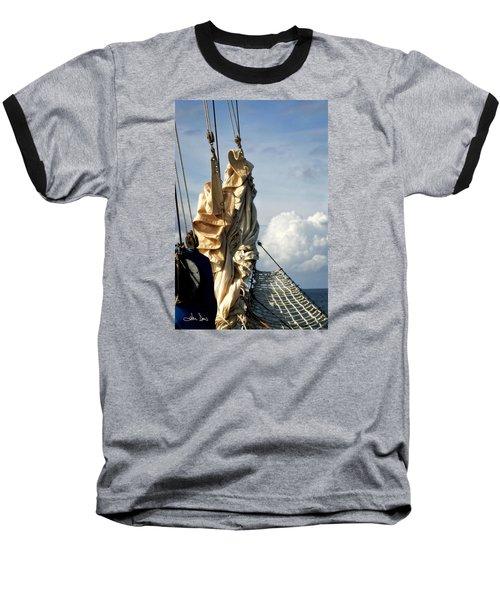 Sails Baseball T-Shirt by Joan Davis