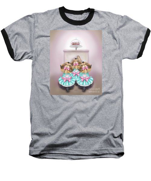 Saint Cupcakes Baseball T-Shirt by Catia Cho