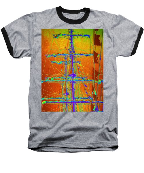New Orleans Saint Elmo Fire Baseball T-Shirt by Michael Hoard