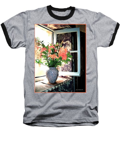 Saint Emilion Window Baseball T-Shirt by Joan  Minchak