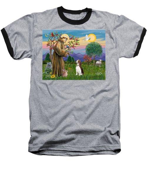 Saint Francis Blesses A Beagle Baseball T-Shirt