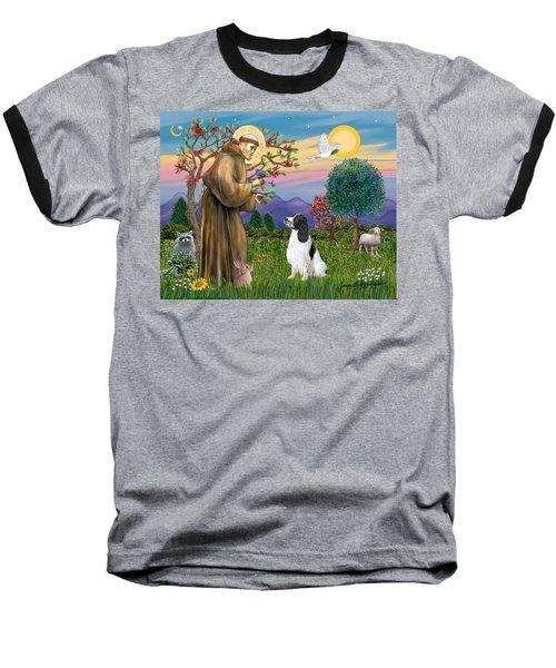 Saint Francis Blesses An English Springer Spaniel Baseball T-Shirt
