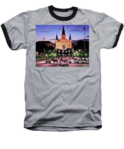 Saint Louis Cathedral New Orleans Baseball T-Shirt by Allen Beatty