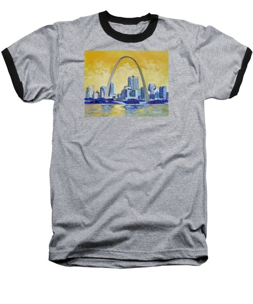 Saint Louis Skyline 1 Baseball T-Shirt by Irek Szelag