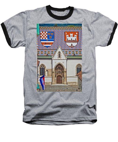 Saint Mark Church Facade Vertical View Baseball T-Shirt
