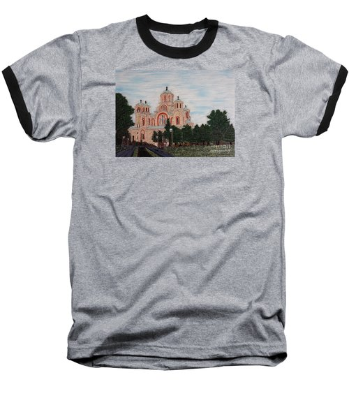 Saint Marko Church  Belgrade  Serbia  Baseball T-Shirt by Jasna Gopic