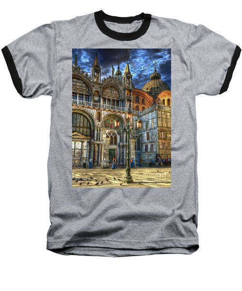 Baseball T-Shirt featuring the photograph Saint Marks Square by Jerry Fornarotto