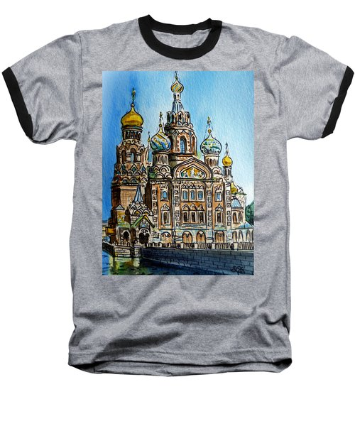 Saint Petersburg Russia The Church Of Our Savior On The Spilled Blood Baseball T-Shirt