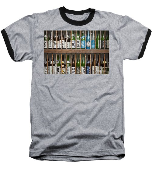 Sake Bottles Baseball T-Shirt