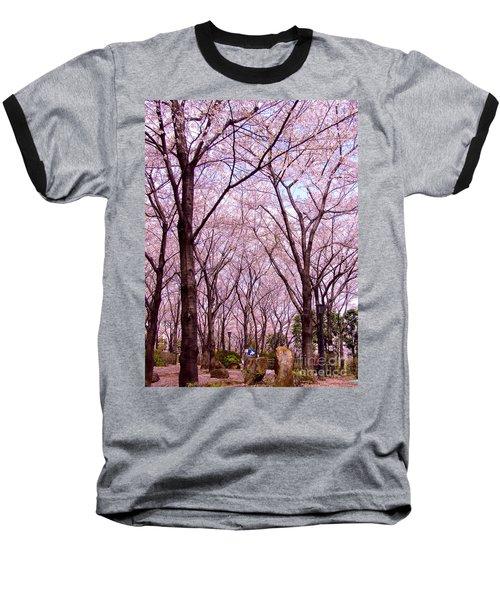 Baseball T-Shirt featuring the photograph Sakura Tree by Andrea Anderegg