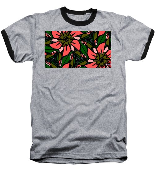 Baseball T-Shirt featuring the digital art Salmon-pink by Elizabeth McTaggart