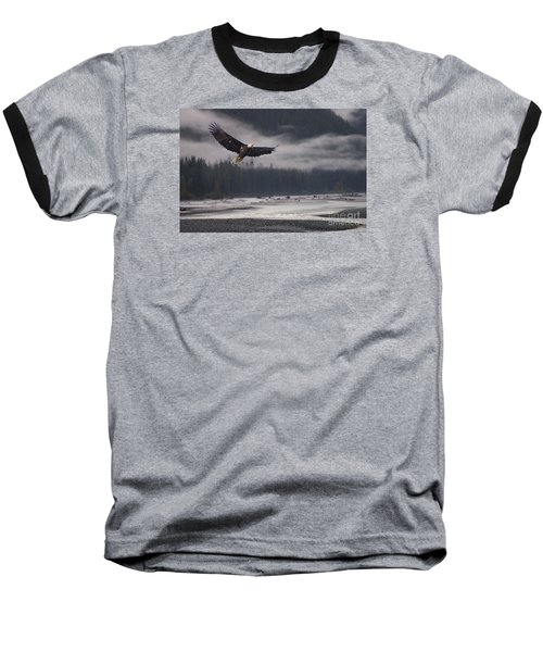 Baseball T-Shirt featuring the photograph Salmon River Mist by Stanza Widen
