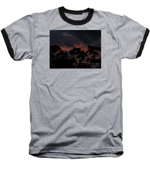 Baseball T-Shirt featuring the photograph Salmon Sunset by Greg Patzer