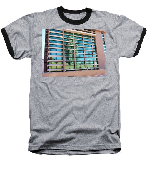 Baseball T-Shirt featuring the photograph Salt Lake City Architecture Reflection by Ely Arsha
