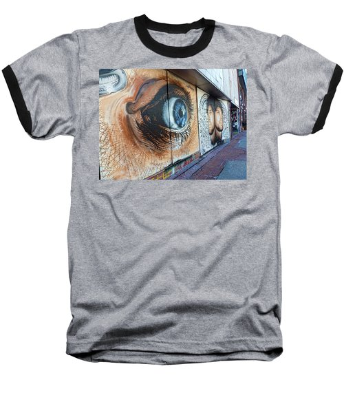 Baseball T-Shirt featuring the photograph Salt Lake City - Mural 1 by Ely Arsha