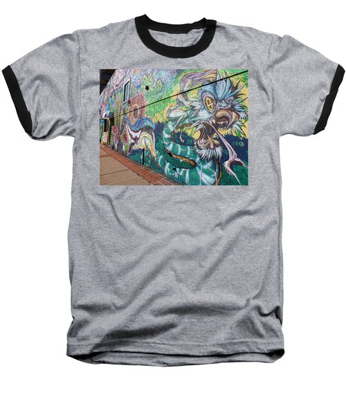 Baseball T-Shirt featuring the photograph Salt Lake City - Mural 2 by Ely Arsha
